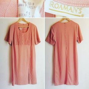 Vintage Peach Polyester dress